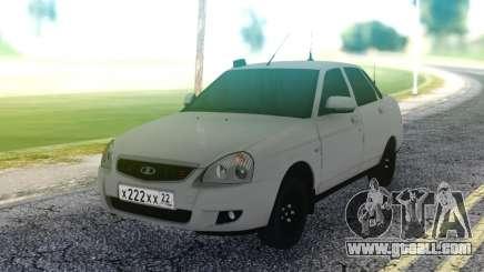 Lada Priora White Sedan for GTA San Andreas