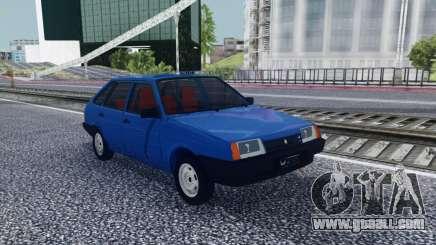 2109 Blue Hatchback for GTA San Andreas