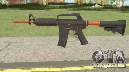 CS:GO M4A1 (Orange Accents Skin) for GTA San Andreas