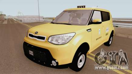 Kia Soul 2015 Taxi Colombiano for GTA San Andreas