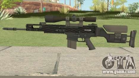 CS-GO SCAR-20 (Carbon Fiber Skin) for GTA San Andreas
