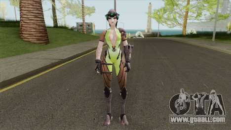 Widowmaker Green Battle Suit for GTA San Andreas