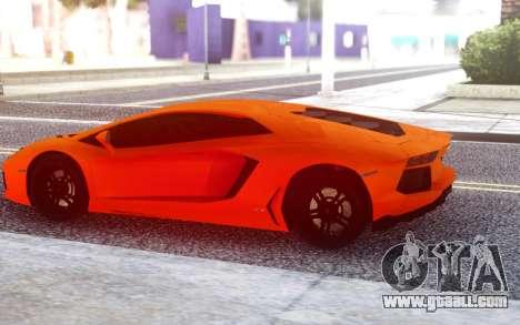 Lamborghini Aventador Lp700-4 for GTA San Andreas