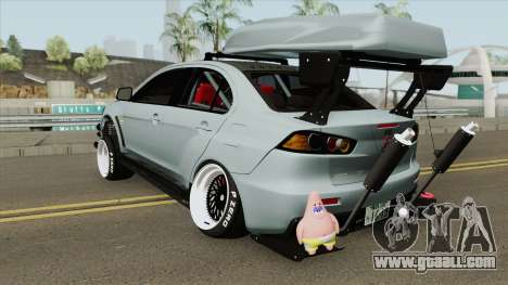 Mitsubishi Lancer Evolution X Hellaflush 2015 for GTA San Andreas