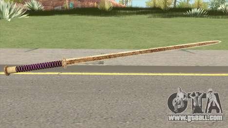 Gold Katana (Dynasty Han) for GTA San Andreas