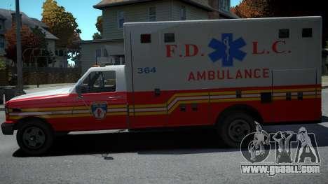 Vapid Ambulance Retro for GTA 4