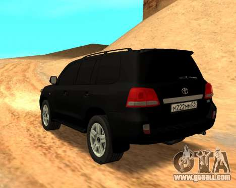 Toyota Land Cruiser 200 Stock for GTA San Andreas