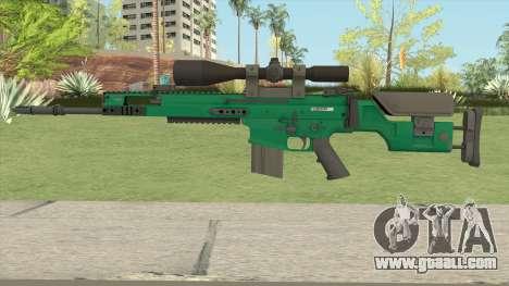 CS-GO SCAR-20 (Emerald Bravo Skin) for GTA San Andreas