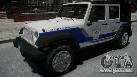 Jeep Wrangler Rubicon 2013 Police for GTA 4