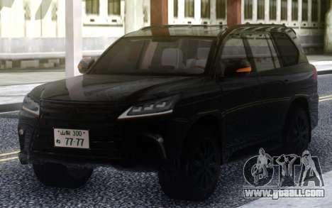 Lexus LX570 2016 BLACK for GTA San Andreas