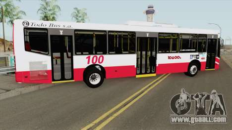 Linea 100 Todobus Pompeya II Agrale MT17 Interno for GTA San Andreas