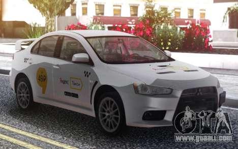 Mitsubishi Lancer Evolution X Yandex Taxi for GTA San Andreas
