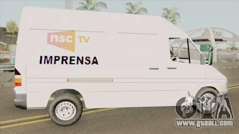 Mercedes-Benz Sprinter NSC TV for GTA San Andreas