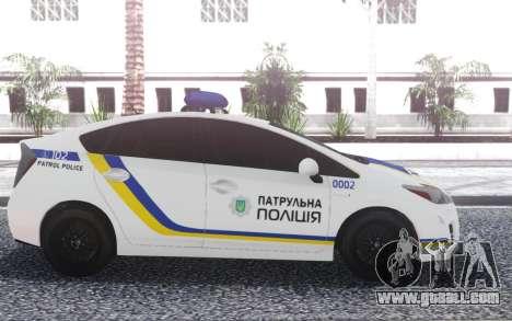 Toyota Prius Patrol Police Of Ukraine for GTA San Andreas