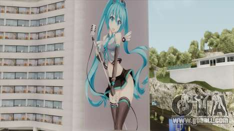 Graffiti Hatsune Miku for GTA San Andreas