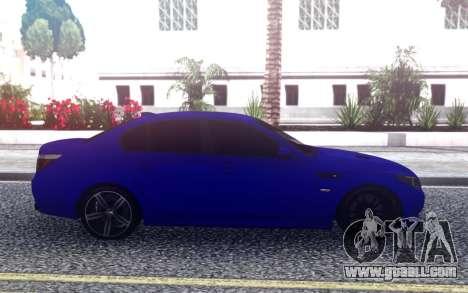 BMW M5 E60 Blue for GTA San Andreas