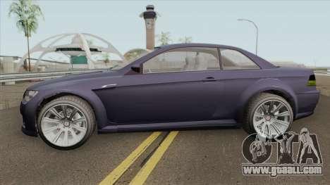 Ubermacht Sentinel XS Custom Stock GTA V for GTA San Andreas