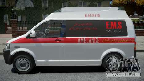 Volkswagen Transporter T5 Amblance for GTA 4