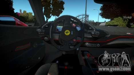 Ferrari 488 Pista 2019 for GTA 4