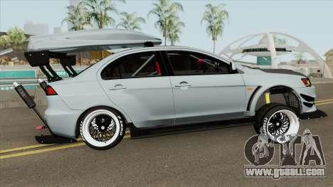 Mitsubishi Lancer Evolution X Hellaflush 2015 for GTA San Andreas