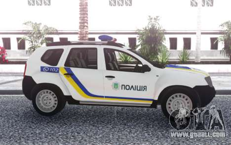 Renault Duster Police Of Ukraine for GTA San Andreas