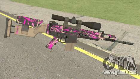 CS-GO SCAR-20 (Blaze Pink Skin) for GTA San Andreas