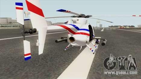 AH-6J Little Bird GBS News Chopper for GTA San Andreas