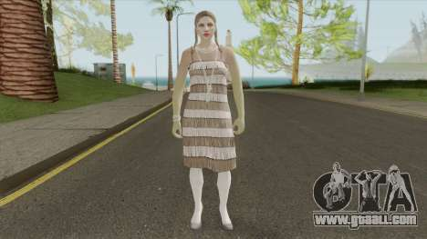 Female Random Skin 2 From GTA V Online for GTA San Andreas