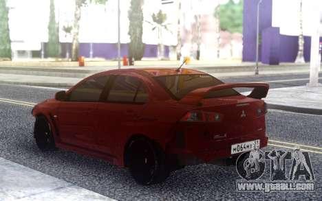 Mitsubishi Lancer X Tuning for GTA San Andreas