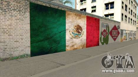 Graffiti De La Bandera De Mexico for GTA San Andreas