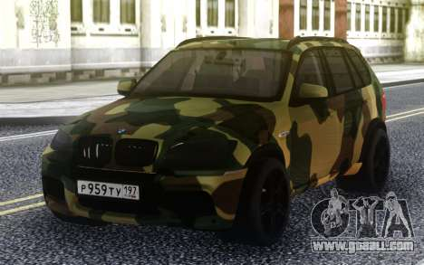 BMW X5M Dima Gordey (Camouflage) for GTA San Andreas
