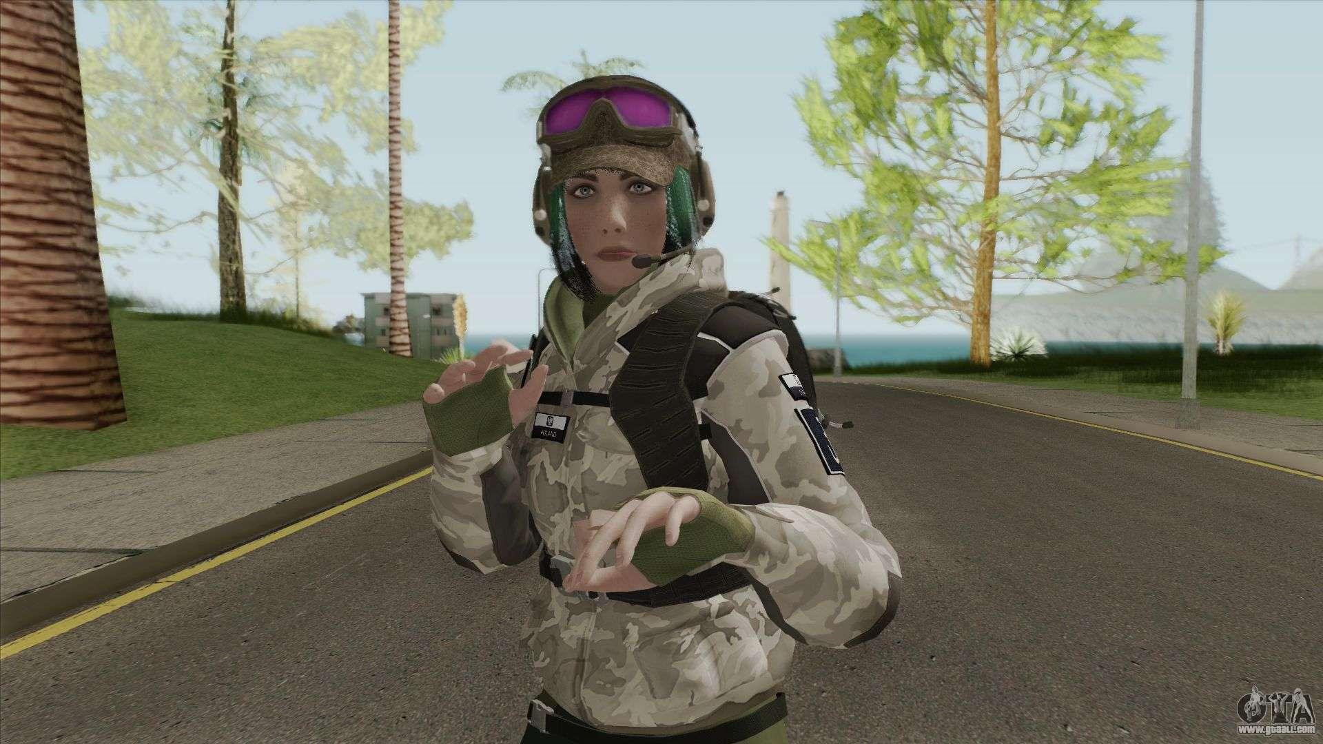 Ela Bosak From Rainbow Six Siege for GTA San Andreas
