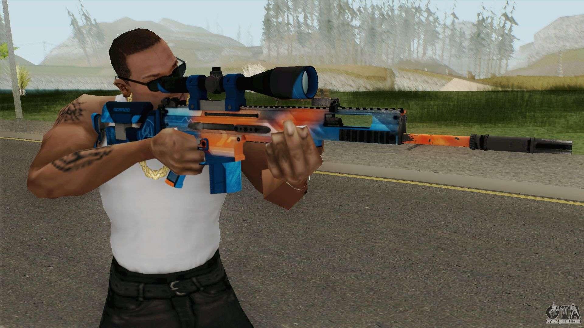 CS-GO SCAR-20 (Intervention Skin) For GTA San Andreas