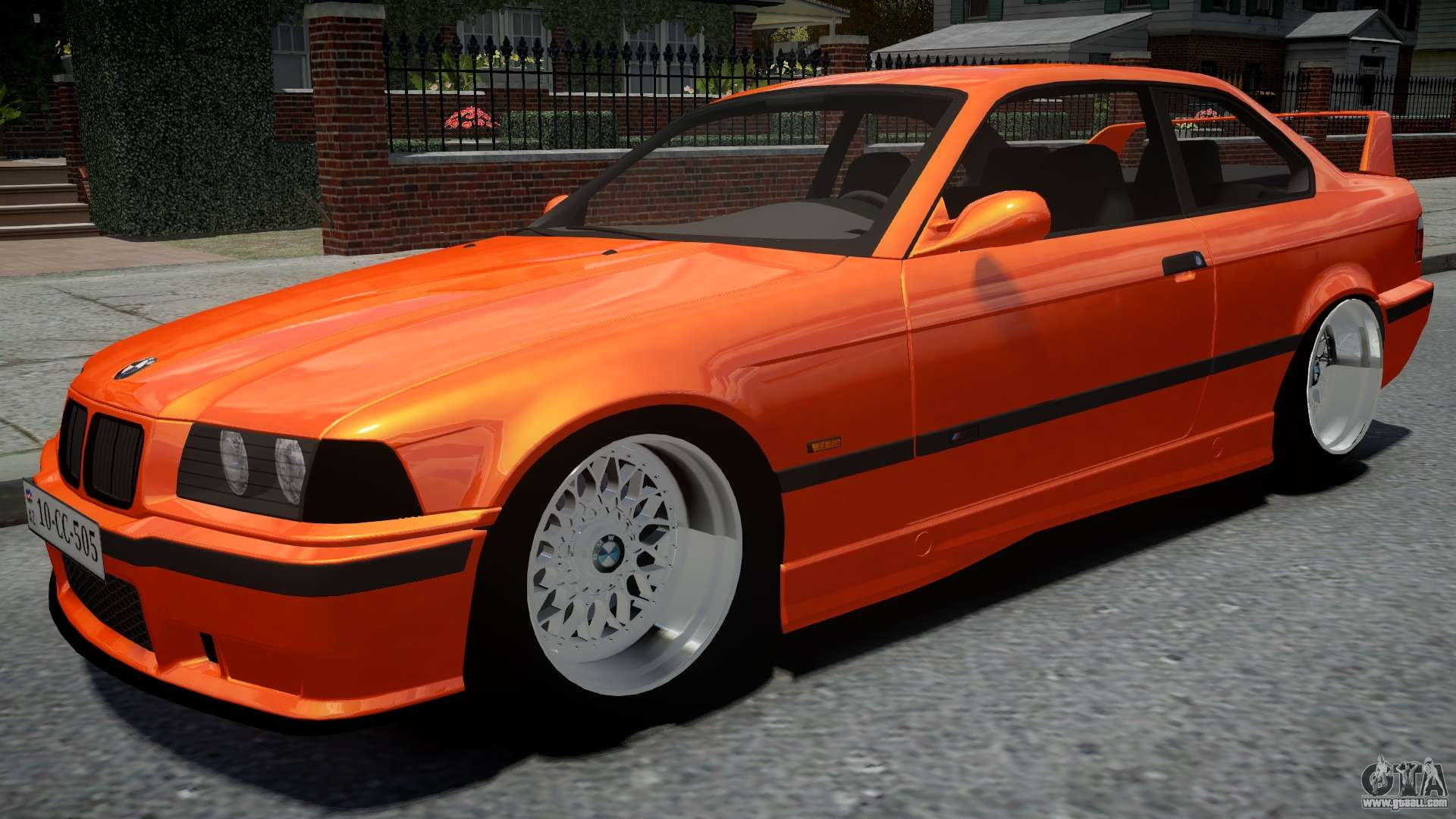 Bmw M3 E36 Orange For Gta 4