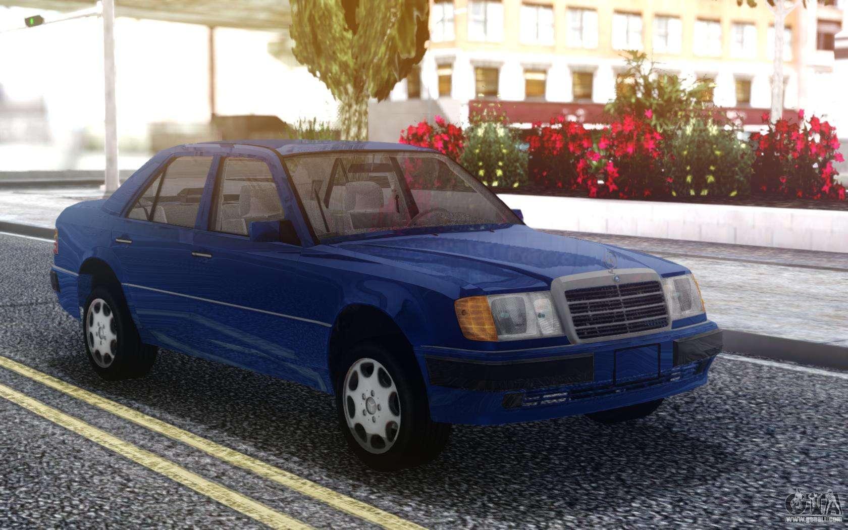 Mercedes-Benz W124 E500 Blue for GTA San Andreas