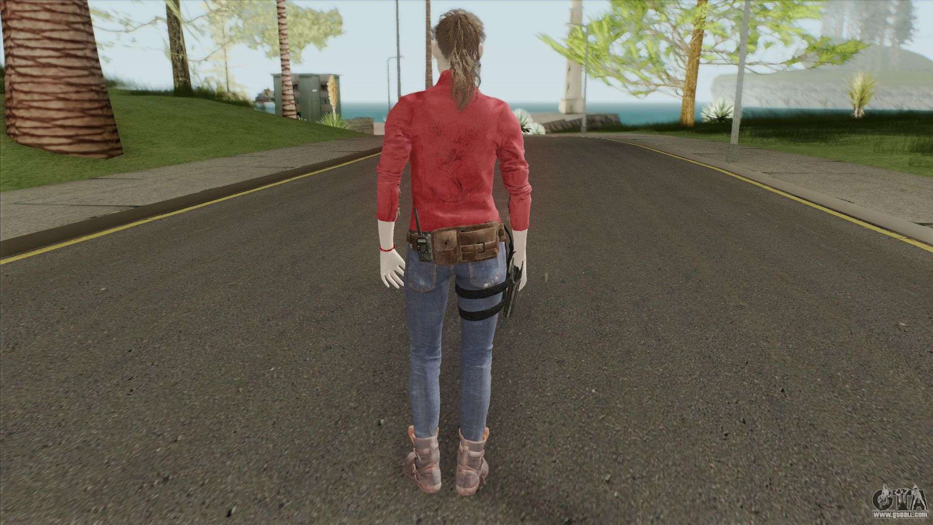 Claire Redfield from the game RE 2 Remake for GTA San