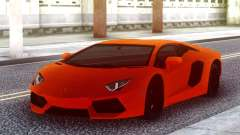 Lamborghini Aventador Lp700-4 Orange for GTA San Andreas