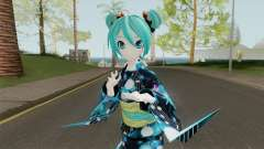 Miku Hatsune in Yukata Style for GTA San Andreas