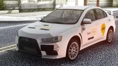 Mitsubishi Lancer Evolution X Yandex Taxi for GTA San Andreas
