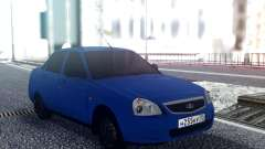 VAZ 2170 Blue Sedan for GTA San Andreas
