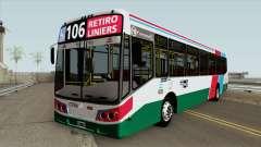 Linea 106 Todobus Pompeya II Agrale MT17 Interno for GTA San Andreas