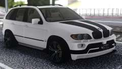 BMW X5 Black And White for GTA San Andreas