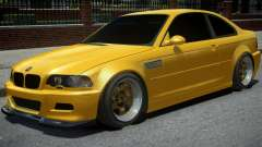 BMW M3 E46 Yellow for GTA 4