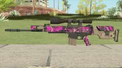 CS-GO SCAR-20 (Blaze Pink Skin) for GTA San Andreas