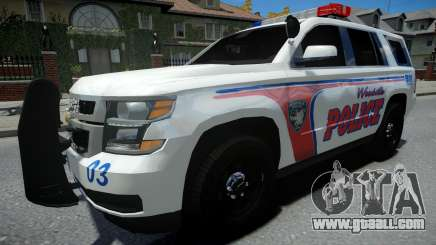 Chevrolet Tahoe Woodville Police 2015 for GTA 4