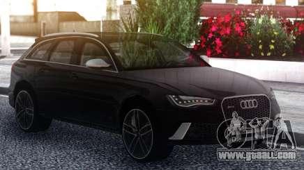 Audi RS6 Black for GTA San Andreas