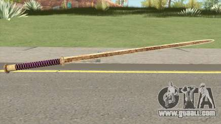 Gold Katana (Dynasty Han) for GTA San Andreas
