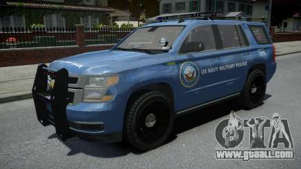 Chevrolet Tahoe US NAVY Military Police for GTA 4