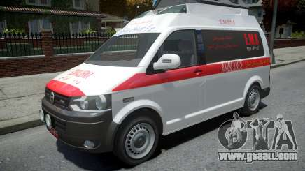 Volkswagen Transporter T5 Amblance for GTA 4