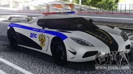 Koenigsegg Agera R Police for GTA San Andreas
